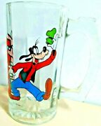 """Vintage Walt Disney Productions Collectible Goofy 5.5"""" Glass Stein Mug Cup"""