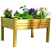 3 Ft. X 4 Ft. Cedar Raised Garden Table Bed Planter Box With Self-wicking Liner