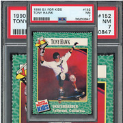 1990 Tony Hawk Rookie Card Rc Sports Illustrated S.i. For Kids 152 Psa 7 Nmint