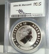2014-p 1 Australia Wedge Tailed Eagle 999 Silver Coin Pcgs Ms70 Signed Mercanti