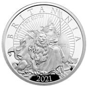 2021 Great Britain Britannia 1oz .999 Silver Proof Two Pounds Mintage - 2900