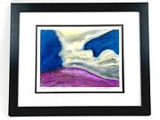 Preston Mccall Abstract Lanscape Pecos Looking North 2002 Watercolor Painting