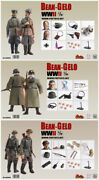 1/12 Poptoys Bgs004 /5/6 Bean-gelo Series Beautiful Westerwald Wwii Collectible