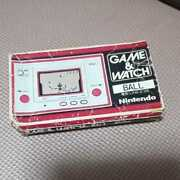 Nintendo Game Watch Ball First Things At The Time Box Manual Rare Items