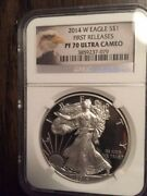 41 Certified Ms70 And Pr70 Silver Eagles Pcgs And Ngc Collection