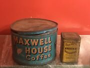 Vintage Lot Of 2 Tin Cans Maxwell House Coffee And Granger's Liver Regulator Empty