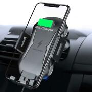 Car Wireless Charger Mount Air Vent Holder Fast Charge Cradle For Smartphones