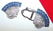 Beautiful As Is Signed Coro Duette Clip Set With Brilliant Stones And All Intact