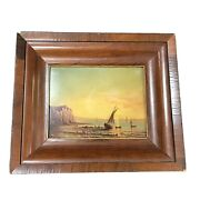 Oil On Board Painting Attributed To Robert Salmon Early 19th Century Painting
