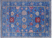 Hand-knotted Turkish Oushak Wool Rug 9and039 1 X 12and039 2 - Q9149