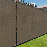 11ft Brown Privacy Fence Screen Patio Yard 95 Blockage Mesh W/gromment