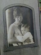 Vintage Black And White Photograph - Mother With Young Son - 1940's