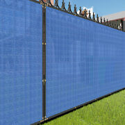 6ft Blue Large Fence Privacy Screen 95 Blockage Mesh W/gromment