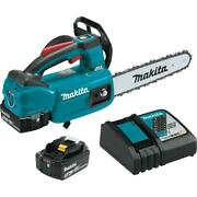 Cordless Chainsaw Kit 10 Inch Variable Speed Trigger With Electric Brake Makita
