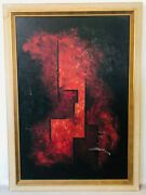 🔥 Antique Mid Century Modern Abstract Cubist Oil Painting Baltimore Museum Art