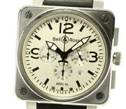 Bell And Ross Aviation Chronograph Br01-94 Self-winding Silver Analog Menand039s Watch