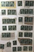 Collectible Us Postage Stamps 39 One Cent Green George Washington 1950s Vintage