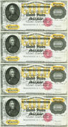 10000 Gold Certificate Obsolete Currency Sheet Reproduction Federal Reserve