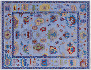 Hand-knotted Turkish Oushak Wool Rug 9and039 2 X 12and039 1 - Q9384