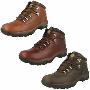 Mens Northwest Territory Inuvik Leather Lace Up Brown Walking Ankle Boots Shoes
