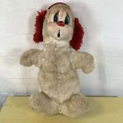 """Vintage Rushton Star Creation Rubber Face Puppy Dog Stuffed Plush Toy Large 24"""""""