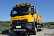 Roof Bar + Led Spots Lamp S For Mercedes Arocs Low Cab Stainless Steel Top Front