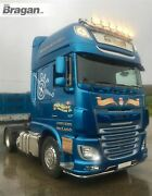 Roof Bar + Leds + Led Spots S For Daf Xf 106 2013+ Superspace Truck Stainless