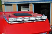 Roof Bar + Led Spots X6+leds X7 For Mercedes Actros Mp4 Bigspace Stainless Steel