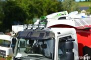 Roof Bar + Led Spots Lamp For Isuzu Npr Low Cab Stainless Steel Front Top Truck