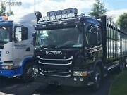 Roof Bar + Led Spots Lamp S For Scania 4 Series Standard Sleeper Stainless Steel