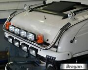 Roof Bar + Led Spots S + Amber Beacon For Daf Xf 105 Super Space Truck Chrome