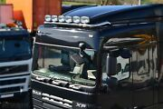 Roof Bar + Leds + Led Spots S For Daf Xf 106 13+ Space Cab Truck Stainless Steel