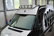 Roof Bar + Jumbo Led Spots Lamps For Iveco Daily 2006 - 2014 Stainless Top Bar