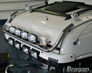Roof Bar + Led Spots S + Clear Beacons For Mercedes Atego Stainless Steel Truck
