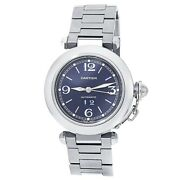 Pasha Stainless Steel Automatic Blue Menand039s Watch W31047m7