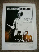 Movie Poster Last House On The Left Signed By Hess Rain Lincoln And Sheffler