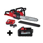 16 Inch Cordless Chainsaw Kit 18-volt Variable Speed Trigger With Blade Cover