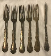 Old Silver-plated Silverware Forks Simeon L. And George H. Rogers Pat. 1901 Ornate
