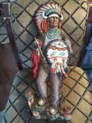 1978 Universal Statuary Corporation Indian Chief Art Wall Hanging Chicago