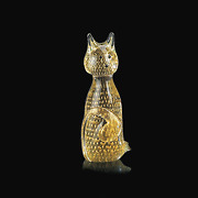 Cat In Murano Glass Original With Bubbles And Gold Made Andigraven Italy Hand Made