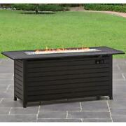 Outdoor Gas Fire Pit Table Propane Gas Fireplace Patio Backyard Heater 57