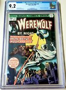 Werewolf By Night 33 Cgc 9.2 White Pages 2nd Appearance Moon Knight Disney+ 🔥