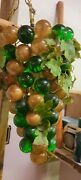 Lucite Grapes Bronze And Green 15 Inches Hanging Light