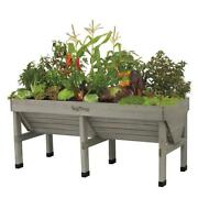 Wooden Raised Bed Planter Garden Box Elevated Unique V-shape All-weather Medium