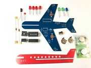 Flashing Led Airplane Diy Electronic Kit Learn To Solder Pcb Board. Home Project