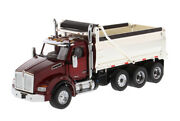 Kenworth T880 Sbfa Dump Truck Red And Chrome 1/50 Model By Diecast Masters 71059