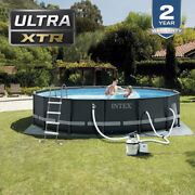 Intex 16ft X 48in Ultra Xtr Frame Above Ground Swimming Pool Set W/ Pump In Hand