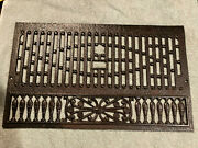 Ornate Antique Cast Iron Fireplace Summer Cover Plate Free S/h