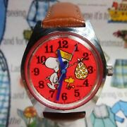 Snoopy Watch Red Citizen 1965 Limited Analog Antique