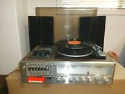 Vintage Silver Marshall Am/fm Stereo 8 Track Cassette Recorder Kmcr-990